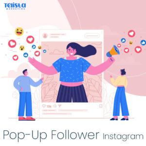 Pop-Up Instagram Follower